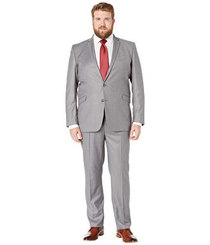 (Kenneth Cole REACTION Men's Big & Tall Techni-Cole Open Bottom Suits Light Grey Basketweave 54 Regular)