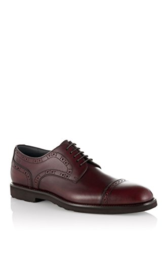 Hugo Boss, Uomini Lace Up Brogue Rosso Scuro