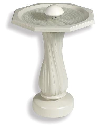 API 390 Water Rippling Bird Bath with Pedestal and Water Wiggler