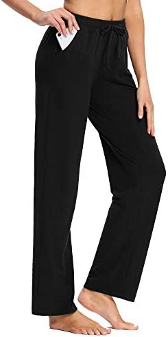 PACBREEZE Women's Yoga Pants Loose Comfy Pajama Pants Casual Pilates Running Workout Sweatpants with Pockets 4