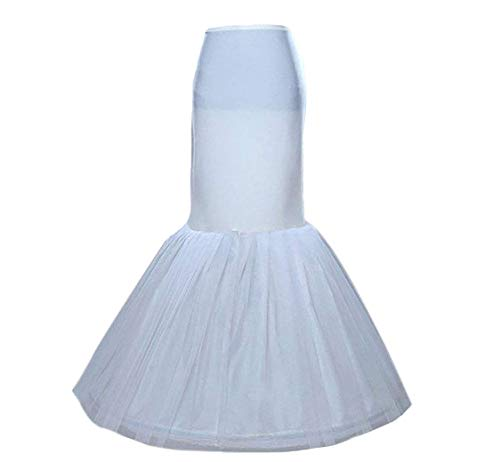 Sisjuly Women's Mermaid Underskirt Wedding Petticoat Slips for Bridal One Size Ivory