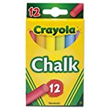 Crayola Chalk, Assorted Colors, 12 Sticks/Box