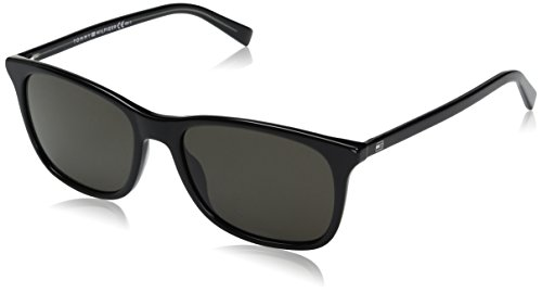 Tommy Hilfiger Th1449s Rectangular Sunglasses, Black Gray/Brown Gray, 54 mm