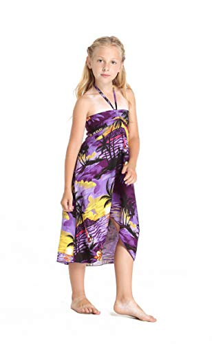8f9eb37e4bc Girl Hawaiian Butterfly Dress in Purple Sunset Size 4 available in ...