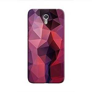 Cover It Up - Dark Purple Red Pixel Triangles Lenovo Zuk Z1 Hard Case