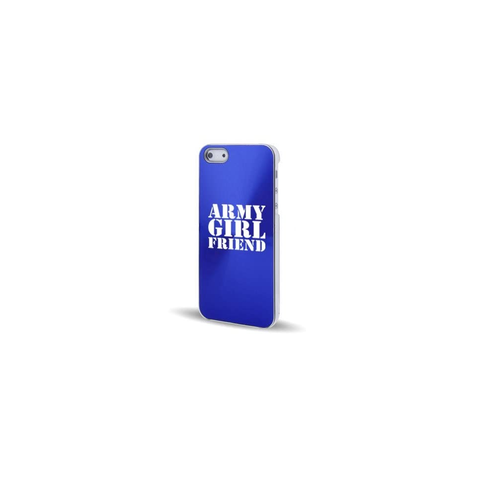 Apple iPhone 5 5S Blue 5C554 Aluminum Plated Hard Back Case Cover Army Girlfriend