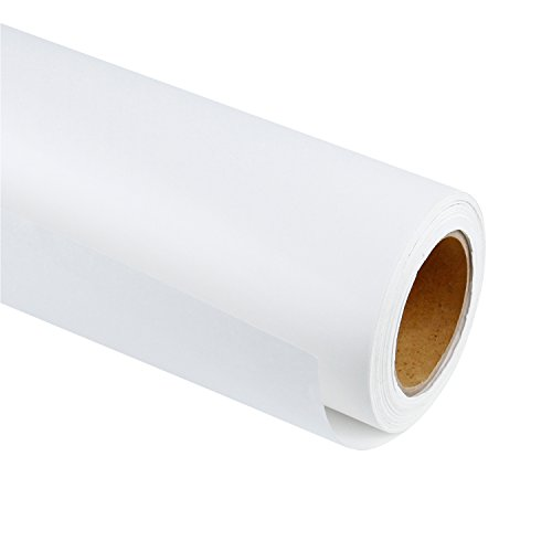 RUSPEPA White Kraft Paper Roll, 24 inch x 100 Feet (Drawing Kraft Paper)