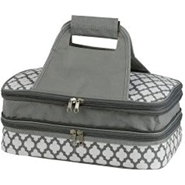 Insulated Double Pyrex Casserole Carrier Thermal Keeper - Fits 9x13 Casserole Dish