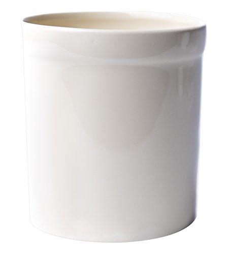 American Mug Pottery Ceramic Utensil Crock Utensil Holder, Made in USA, Ivory