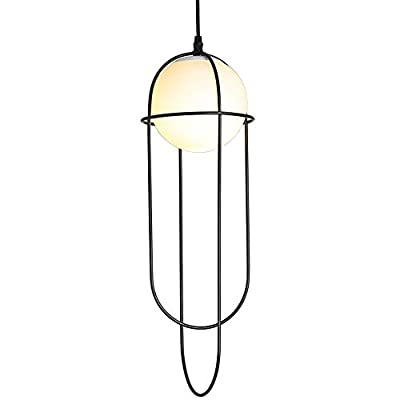 TZZ Cage Hanging Pendant Lighting Vintage Hanging Caged Pendant Light Fixture Adjustable Black Cord for Home Kitchen Lighting Band E27 dimmable Light Bulb Balck