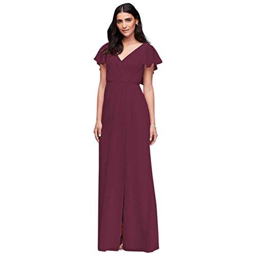 crinkle chiffon dress - 8