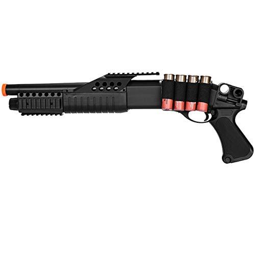 - UKARMS M180A1 Spring Shotgun RIS Pistol Grip W/ 4 Bullet Shells, Shell Holder