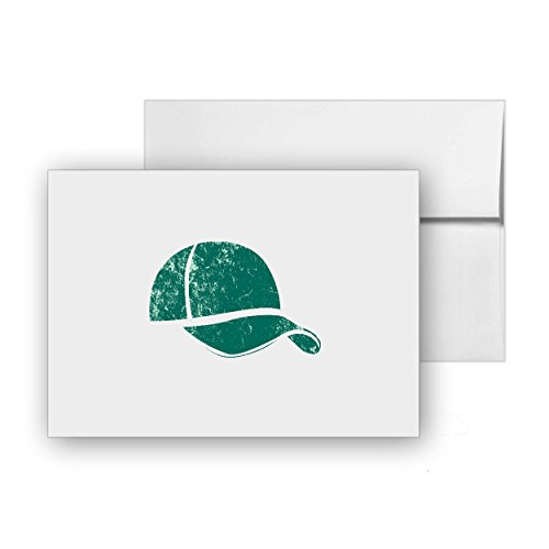 Cap Sport-cap Hats Baseball-cap, Blank Card Invitation Pack, 15 cards at 4x6, with White Envelopes, Item 50687