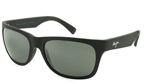 Maui Jim Kahi Polarized Sunglasses Matte Black / Neutral Grey One - Jim Sunglasses Faces For Maui Round Best