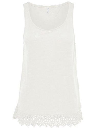 ONLY - Camisas - Básico - para mujer creme-weiß (Cloud Dancer)