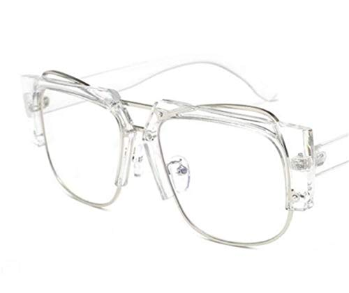 FlowerKui libre protección al de de Eyewear Unisex medio aire gafas para White marco moda UV400 gafas rxqrpA