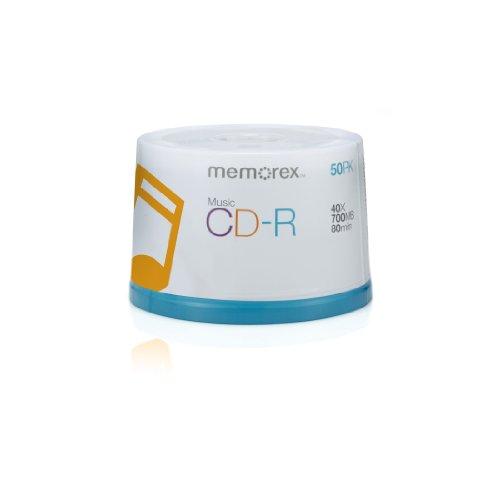 Memorex 40x Music CD-R Media - 50 Pack Spindle