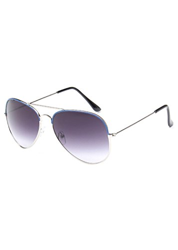 única MissFox Sol Retro Mujer Hombre Gafas Vintage Lente Piloto y de Talla UV400 Azul para Sunglasses tqwxqPrE