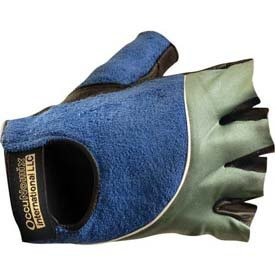 Occunomix 422-066 Classic Terry Black Gel Gloves, Size 2X, Grey/Blue