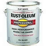 RUST-OLEUM 7790-402 Professional Gallon Flat White Enamel by Rust-Oleum