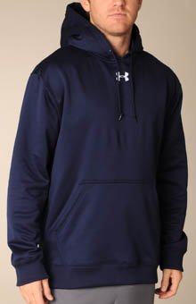 Men's Armour® Fleece Team Hoody Tops by Under Armour Large Midnight Navy by Under Armour