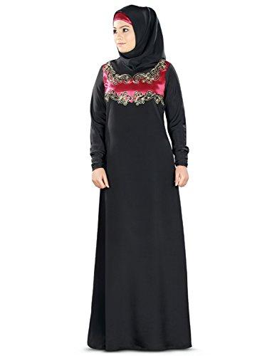 MyBatua Black Crepe Sirin Abaya Burka Hijab Online