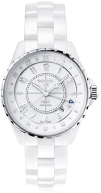 Chanel J12GMT analógico automático de Color Blanco para Mujer Reloj h3103