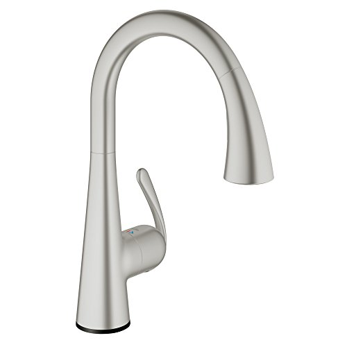 Ladylux Touch Electronic Single handle With Pull-out Dual Spray, 30205DC1 - Super Steel (Convert Two Handle Sink Faucet To Single Handle)