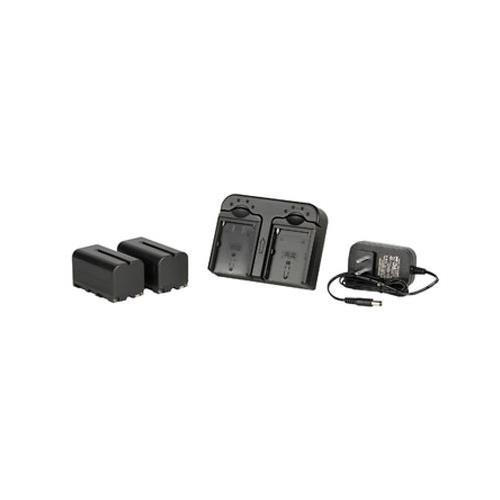 Ikan DV-DUAL-S750 DV Battery Kit with 2X NP-F750 Li-Ion Batteries & Dual Charger, Black