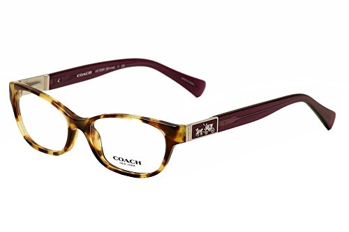 Coach HC6061 Emma Eyeglasses 5273 Spotty Tort/Purple 52 15 - Reading Glasses Coach