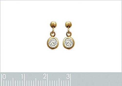 ISADY - Beatrice Gold - Boucles d'oreille - Plaqué or jaune 18K - Pendants - Oxyde de zirconium