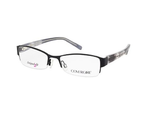 Cover Girl Eyeglasses CG 0432 001 Shiny Black 53MM