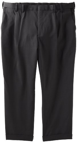 Van Heusen Men's Big -Tall Double Pleat Cuffed Crosshatch Pant