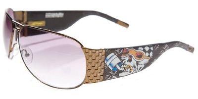 Ed Hardy Ehs 019 Cocoa/ Grey Sunglasses