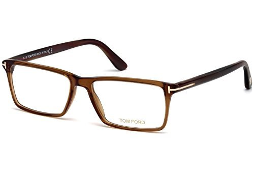 TOM FORD Men's TF 5408 096 Clear Brown Clear Rectangular Eyeglasses - Frames Tom Clear Ford