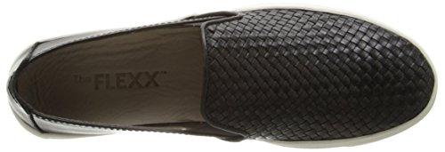 FLEXX Fashion Name Sneak Women's Sneaker The Elba Intreccio Black wRqUadnW