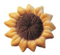 24pk Sunflower (32807) 1 1/2'' Edible Sugar Decoration Toppers for Cakes Cupcakes Cake Pops w. Edible Sparkle Flakes & Decorating Stickers by CakeSupplyShop