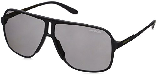 Carrera Men's Ca122s Rectangular Sunglasses, Grey/Black Mirror, 61 mm