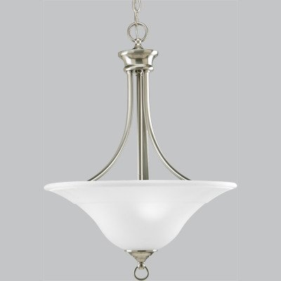 Progress Lighting P3474-09 3-Light Hall and Foyer Fixture, Brushed Nickel ()