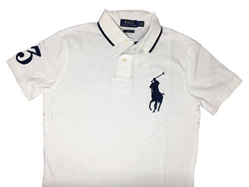 Mens Polo Ralph Lauren Custom Fit Big Pony Mesh Shirt  L  White 2017