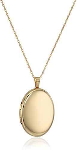 14k Gold-Filled Large Polished Oval Locket Necklace, 30