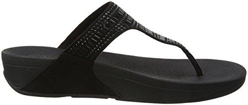 black Sandals Noir Fitflop thong Incastone 1 Toe Femme vqYxOa