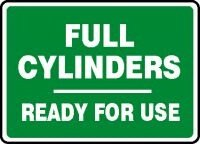 Aluma-Lite MCPG586XL 7 x 10 Inches AccuformFull Cylinders Ready for Use Safety Sign