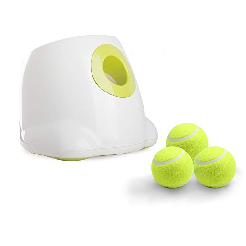 All for Paws Interactive Automatic Ball Launcher Dog Toy, Tennis Ball Throwing Machine for Dog Training, 3 Balls Included