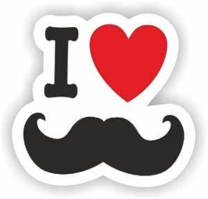 Pegatinas con diseño de corazón y bigote para coche y ...