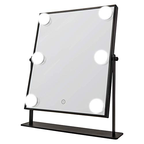 DANIELLE LED Hollywood Mirror- 6 Super Bright LED Lights, -