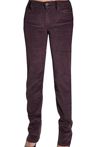 (Calvin Klein Womens Power Stretch Straight Leg Slim Fit Corduroy Pants 2x34 Spiced Burgundy)