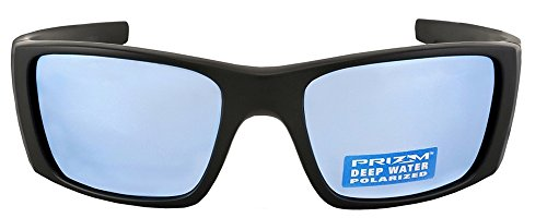 Oakley Fuel Cell Sunglasses (Matte Black Frame Polarized Deep Water H2O Prizm Lens) by Oakley