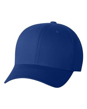 (Yupoong Flexfit 6-Panel Structured Mid-Profile Cap - ROYAL - S/M 5001)
