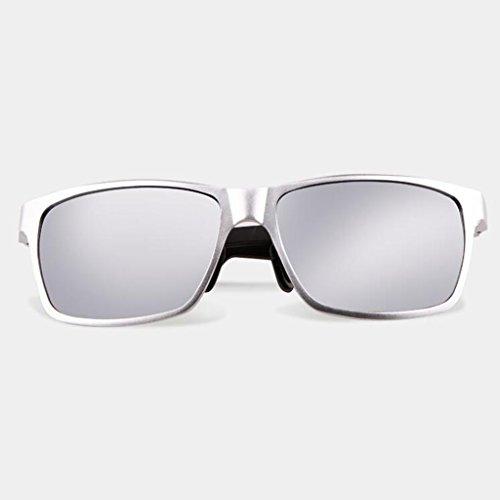Protección sol sol solar Conducción sol Protección UV hombre Gafas de Gafas Deportes excursionista de nuevas UV400 libre Gafas Gafas Regalos de sol de sol Gafas Frame; White al aire para de Silver C de Personalidad Visera 5BqxZvPFw